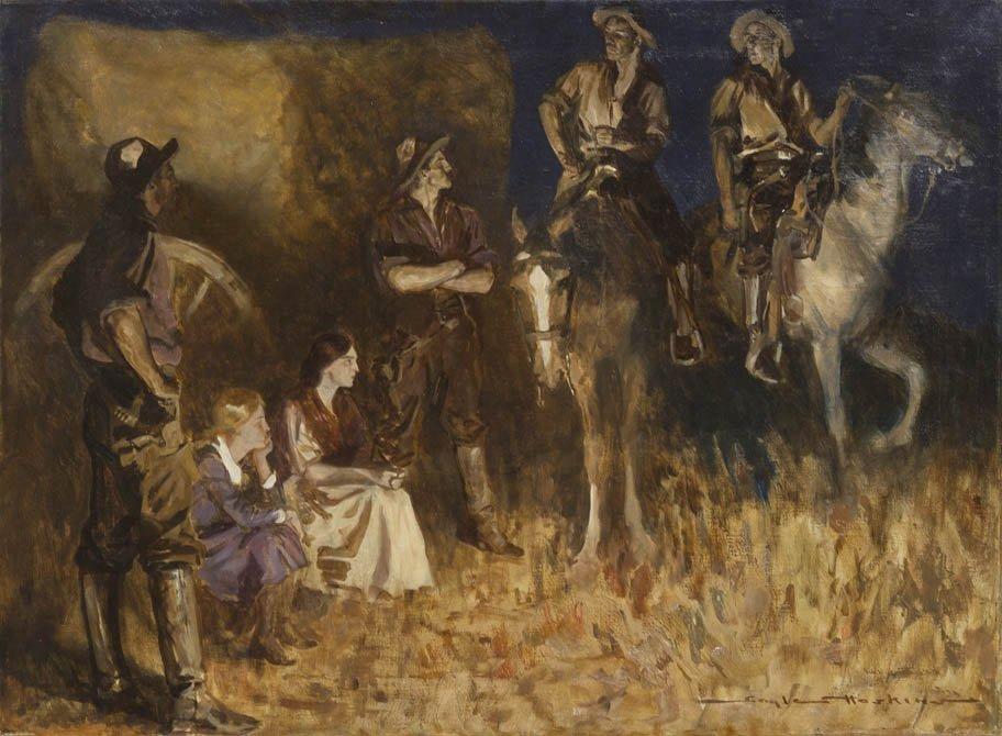 52: Gayle Porter Hoskins, (American, 1887-1962), Night