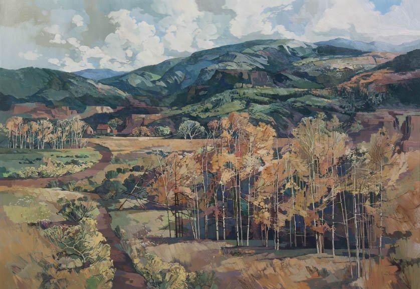 53: Laurence Philip Sisson, (American, b. 1928), Aspens