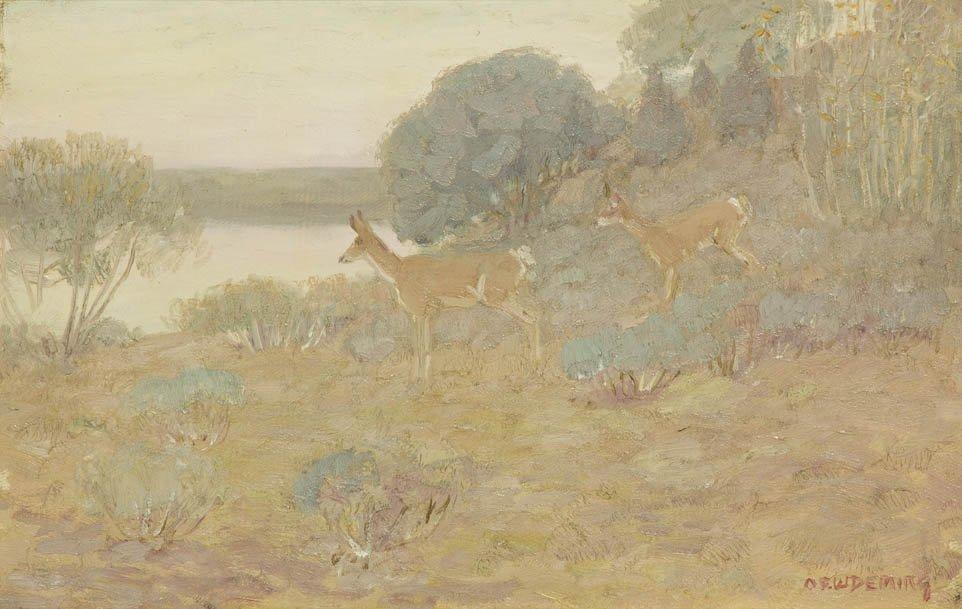 60: Edwin Willard Deming, (American, 1860-1942), Antelo
