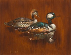 George Dick, (American, 1916-1978), Two Ducks