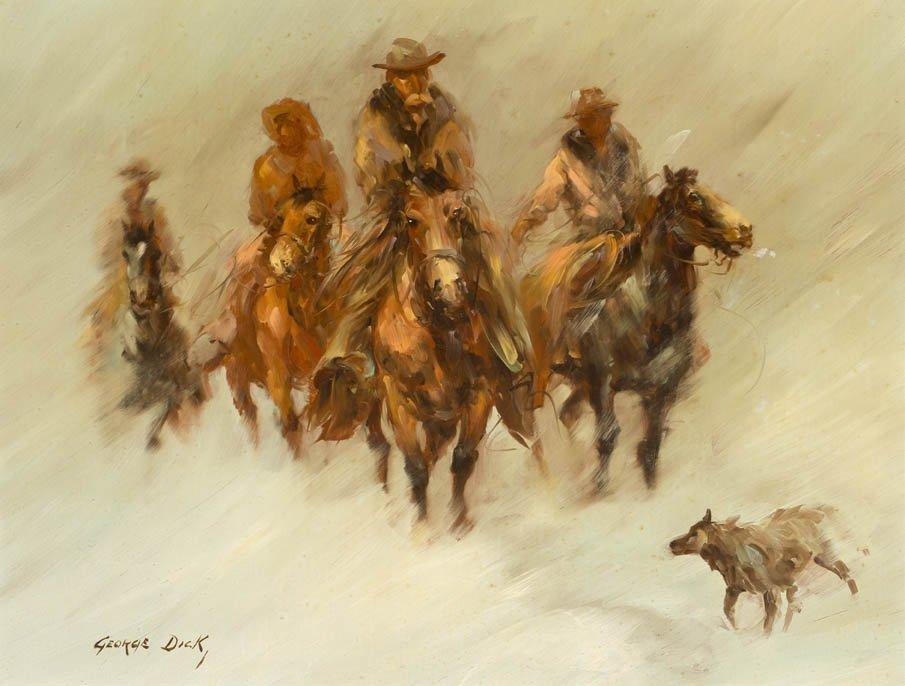 62: George Dick, (American, 1916-1978), Winter Riders