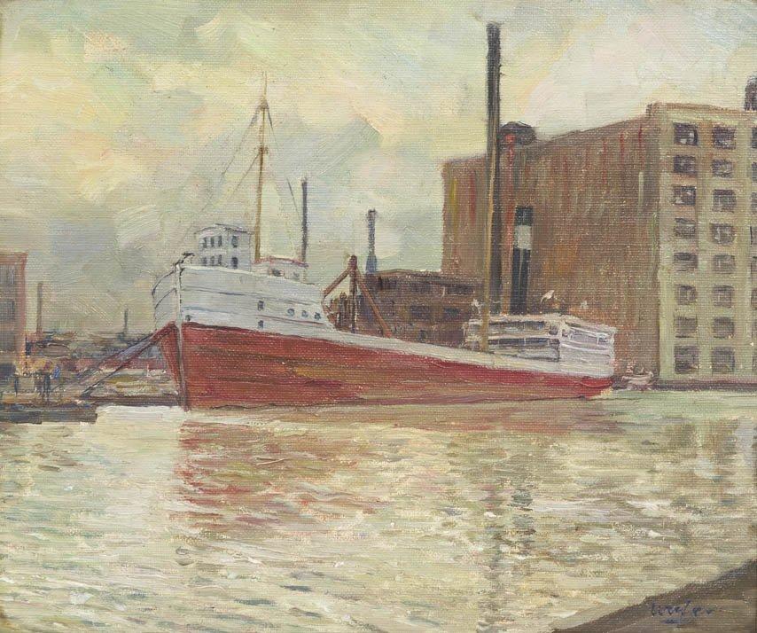 65: Walter Ufer, (American, 1876-1936), Petrol Boat in