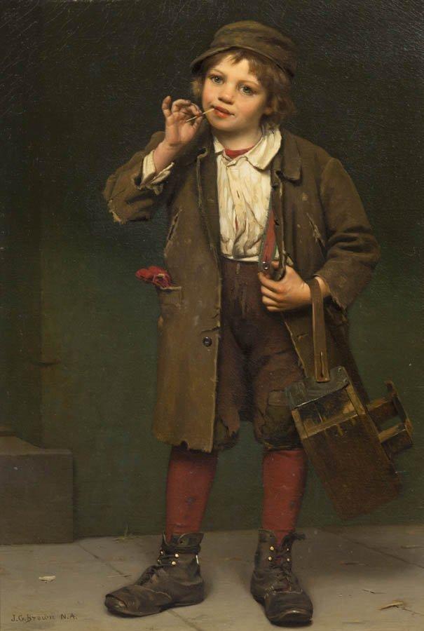 71: John George Brown, (American, 1831-1913), Street Ur