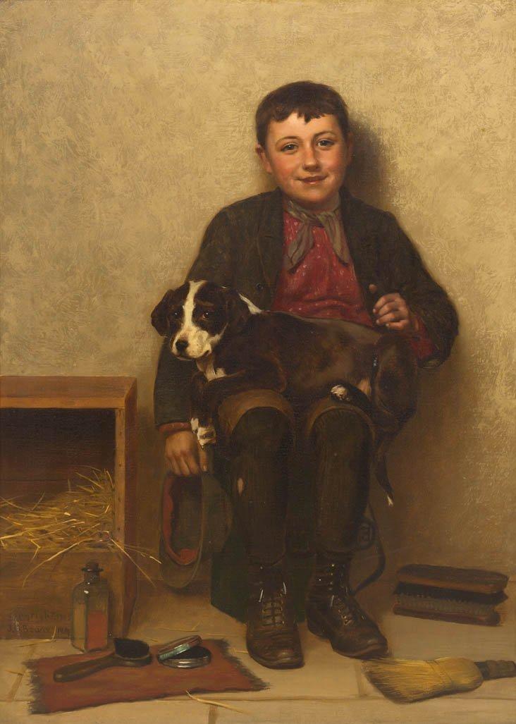 72: John George Brown, (American, 1831-1913), Contentme