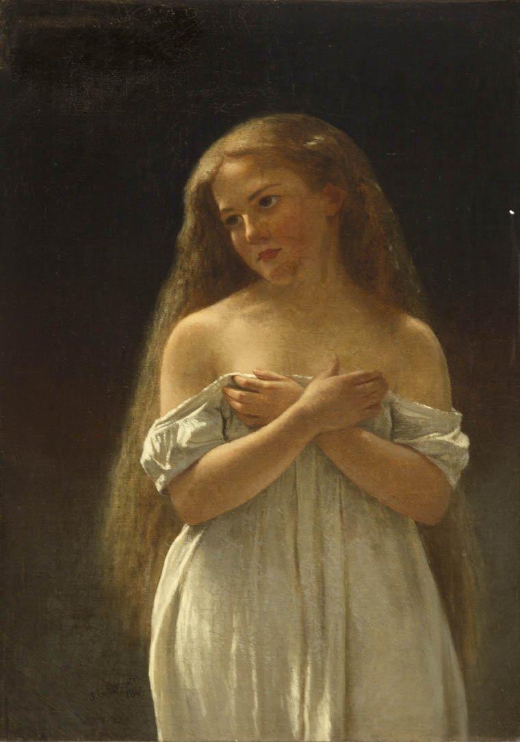 73: John George Brown, (American, 1831-1913), Woman in