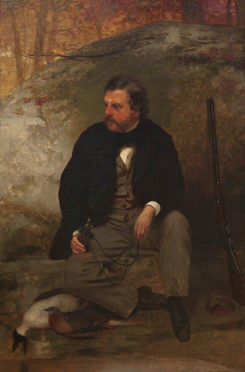 74: John George Brown, (American, 1831-1913), The Hunte