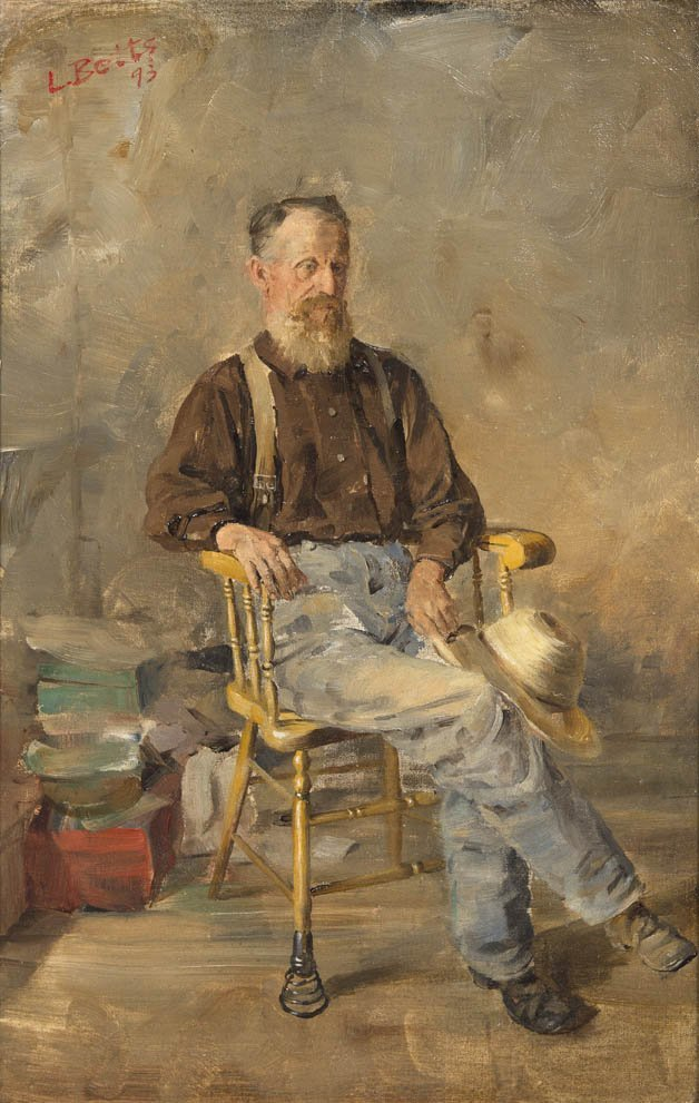 78: Louis Betts, (American, 1873-1961), Old Man in a Sp