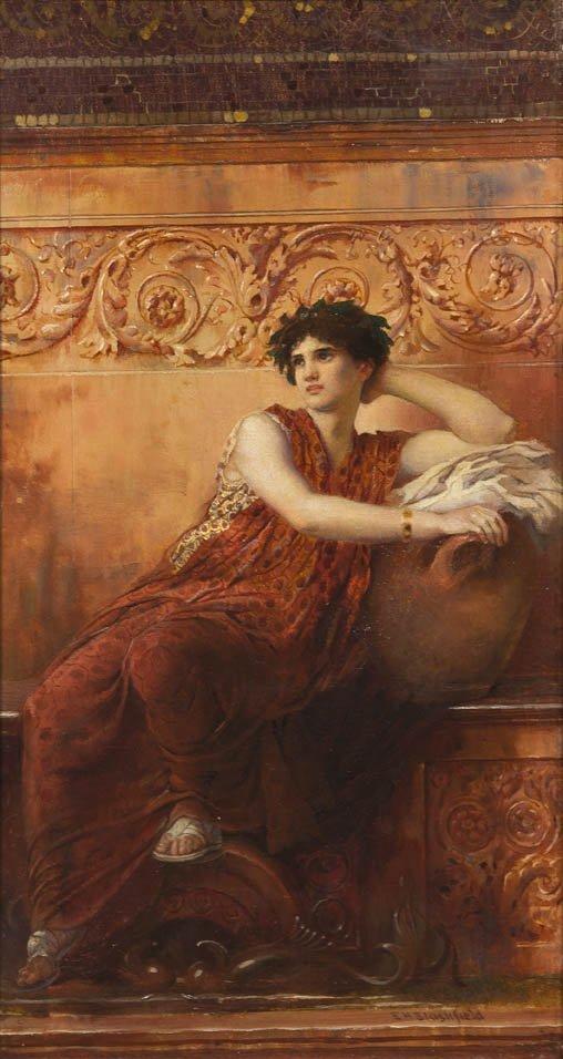 80: Edwin Blashfield, (American, 1848-1936), The Roman