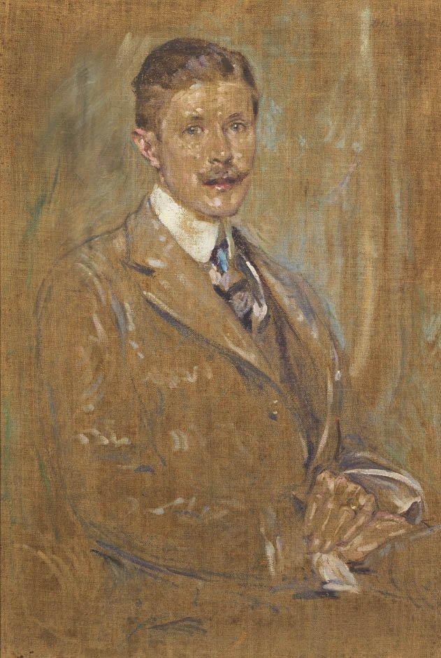 89: Robert Lewis Reid, (American, 1862-1929), Portrait