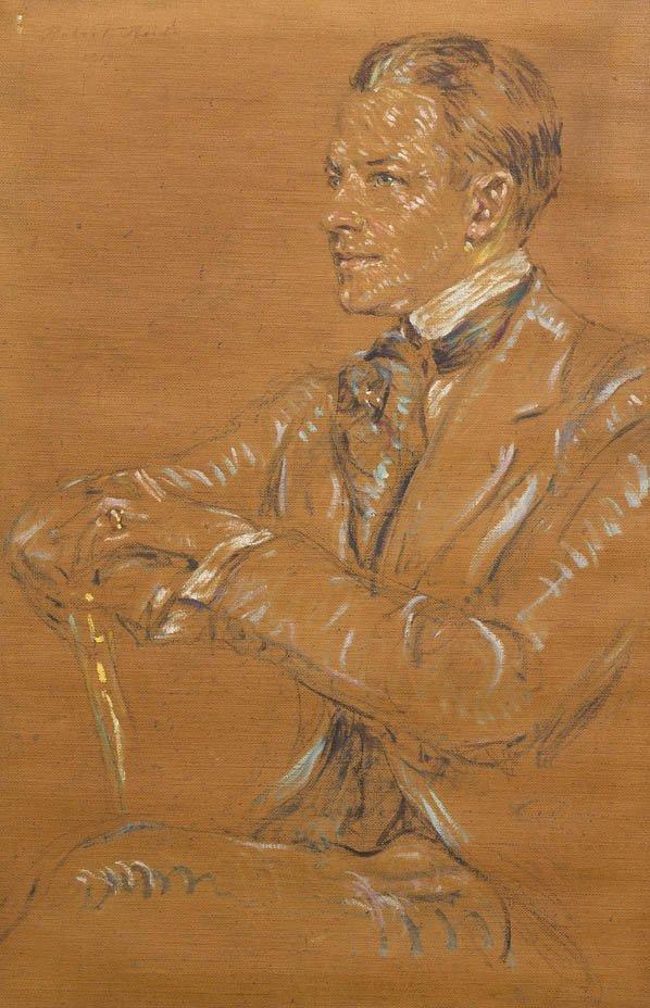 90: Robert Lewis Reid, (American, 1862-1929), Portrait