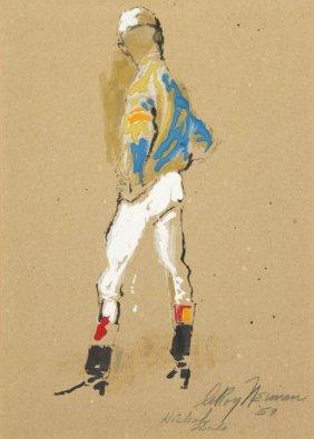 LeRoy Neiman, (American, B. 1927), Jockey, 1959