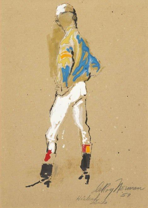 103: LeRoy Neiman, (American, b. 1927), Jockey, 1959