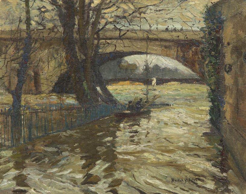 107: Hayley Lever, (American, 1876-1958), Boat Under Br