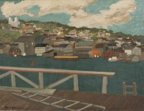 Morris Blackburn, (American, 1902-1979), Hillside