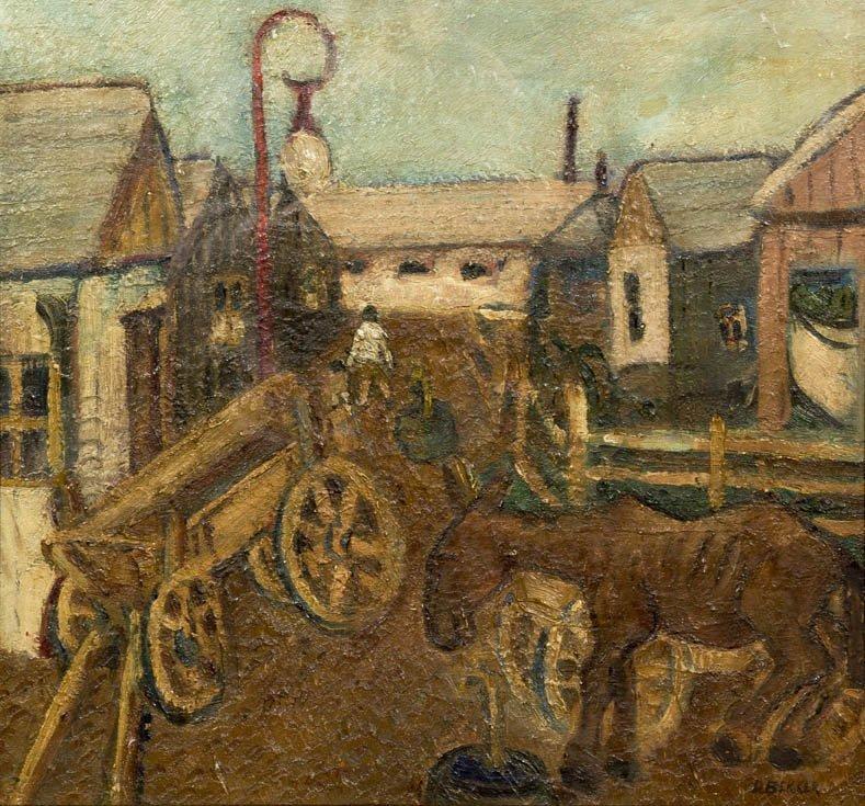 110: David Bekker, (American, 1997-1955), Horse and Car