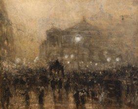 Frank Boggs, (American, 1855-1926), L'Opera