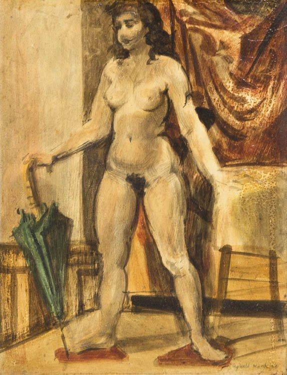 116: Reginald Marsh, (American, 1898-1954), Nude Woman,