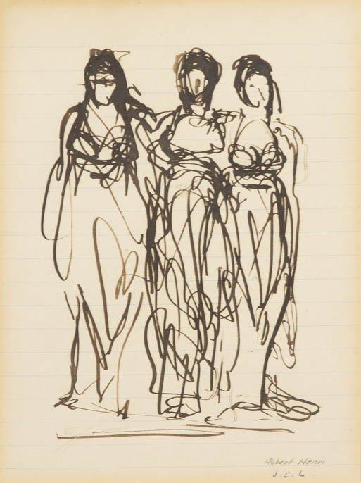 120: Robert Henri, (American, 1865-1929), Three Graces
