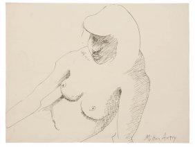 Milton Avery, (American, 1885-1965), Female Torso,