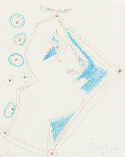 157: Jean Cocteau, (French, 1889-1963), Profile