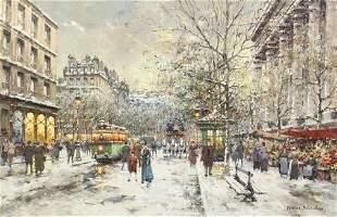 240: Antoine Blanchard, (French, b. 1925), Marche Aux F