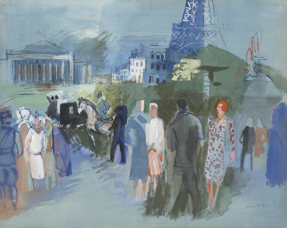 270: Jean Dufy, (French, 1877-1953), Parisian Street Sc