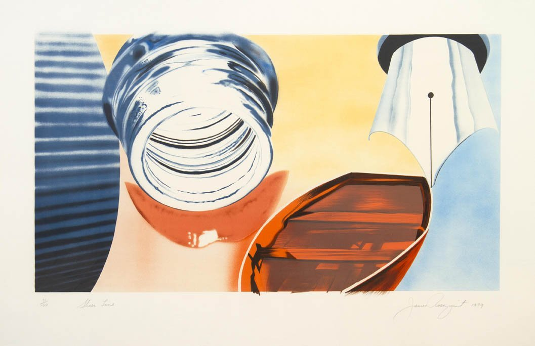 1001: James Rosenquist, (American, b. 1933), Sheer Line