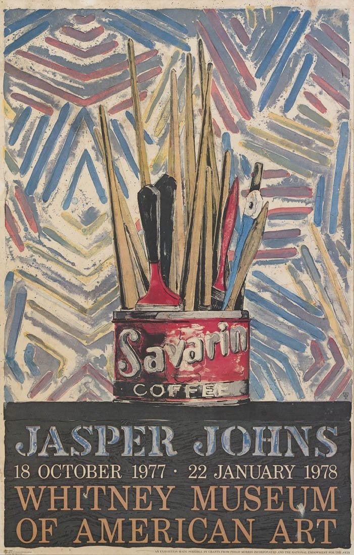 1004: Jasper Johns, (American, b. 1930), Savarin, 1977