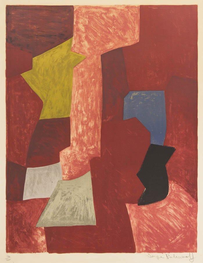 1050: Serge Poliakoff, (Russian, 1906-1969), Untitled