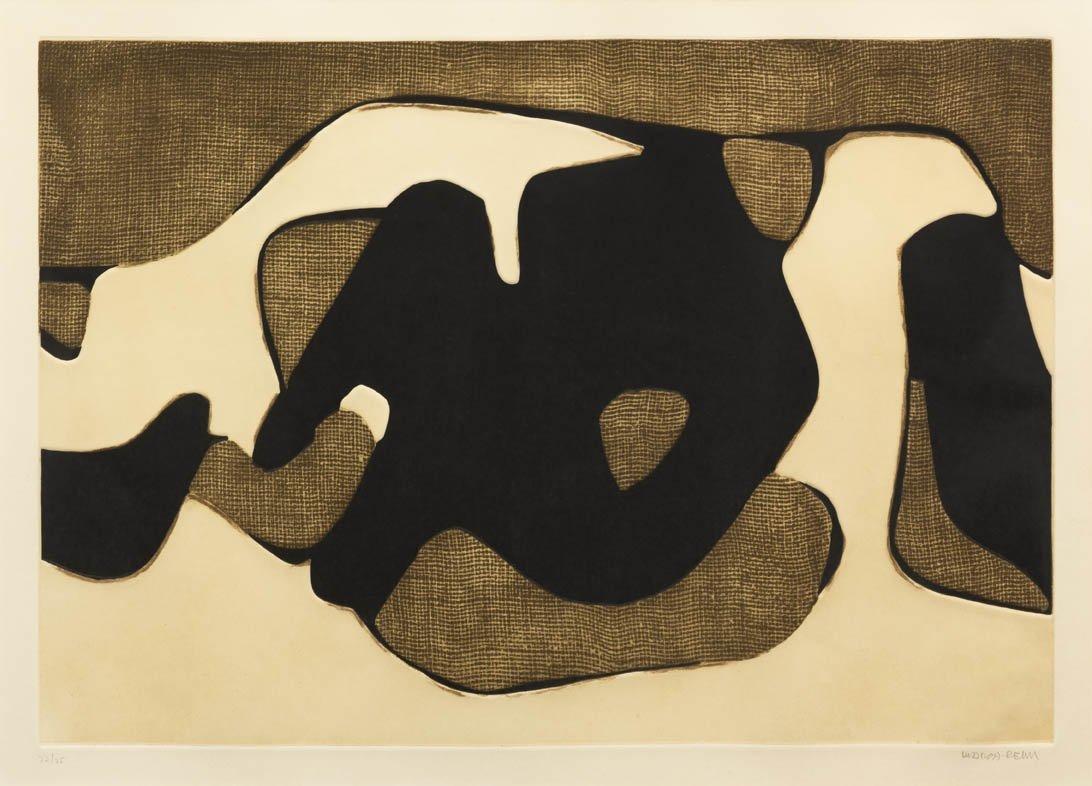 1057: Conrad Marca-Relli, (American, 1913-2000), Black,