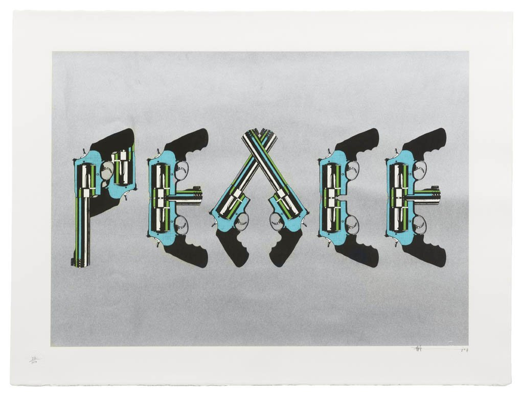 1063: Paul Insect, (British, b. 1971), Peace (Silver),