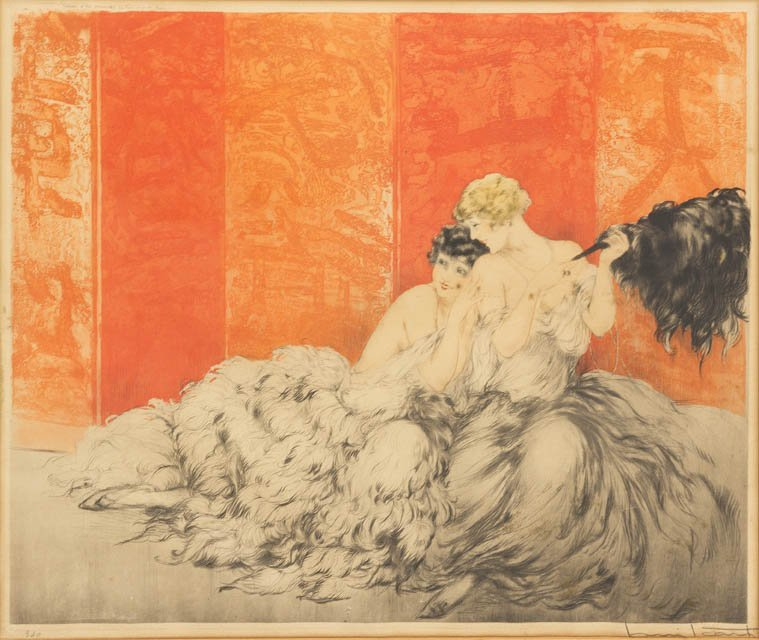 1162: Louis Icart, (French, 1888-1950), Moquerie