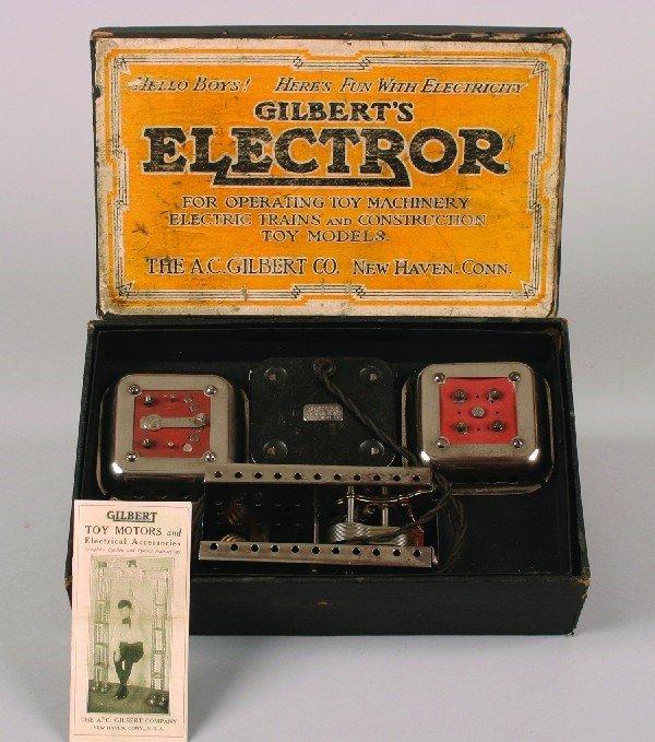 12: An A.C. Gilbert Electror in Cardboard Box,