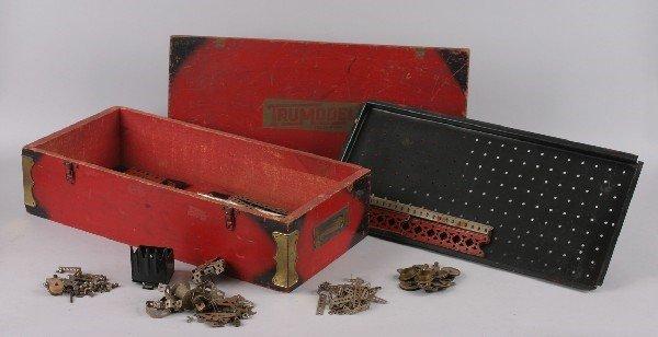 14: An A.C. Gilbert Erector Trumodel Wood Box,