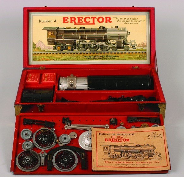 41: An A.C. Gilbert Erector Hudson Locomotive Set,