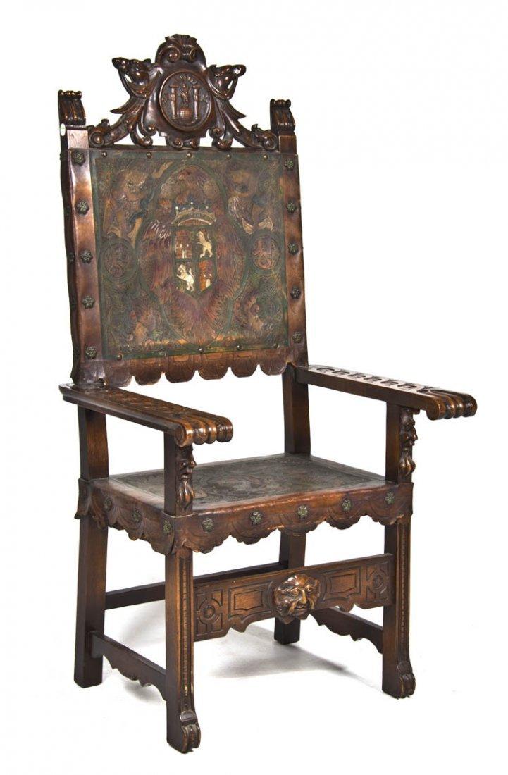 2014: A Renaissance Revival Style Open Armchair, Height
