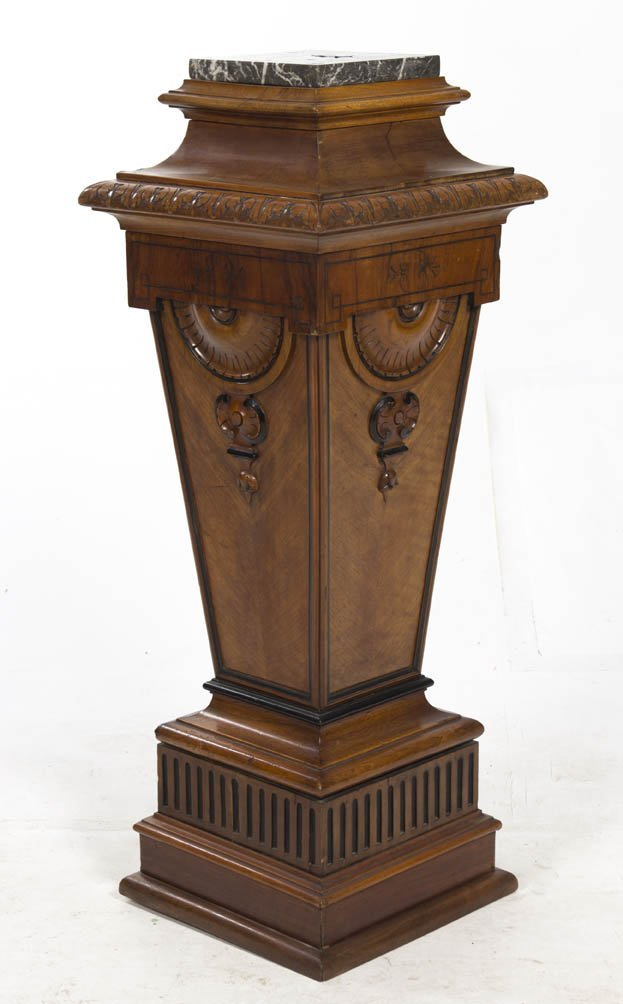 2015: A Victorian Style Carved and Marble Inset Column,