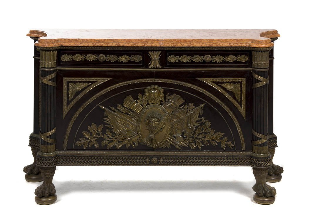 2017: A Louis XVI Style Gilt Metal Mounted Console Cabi
