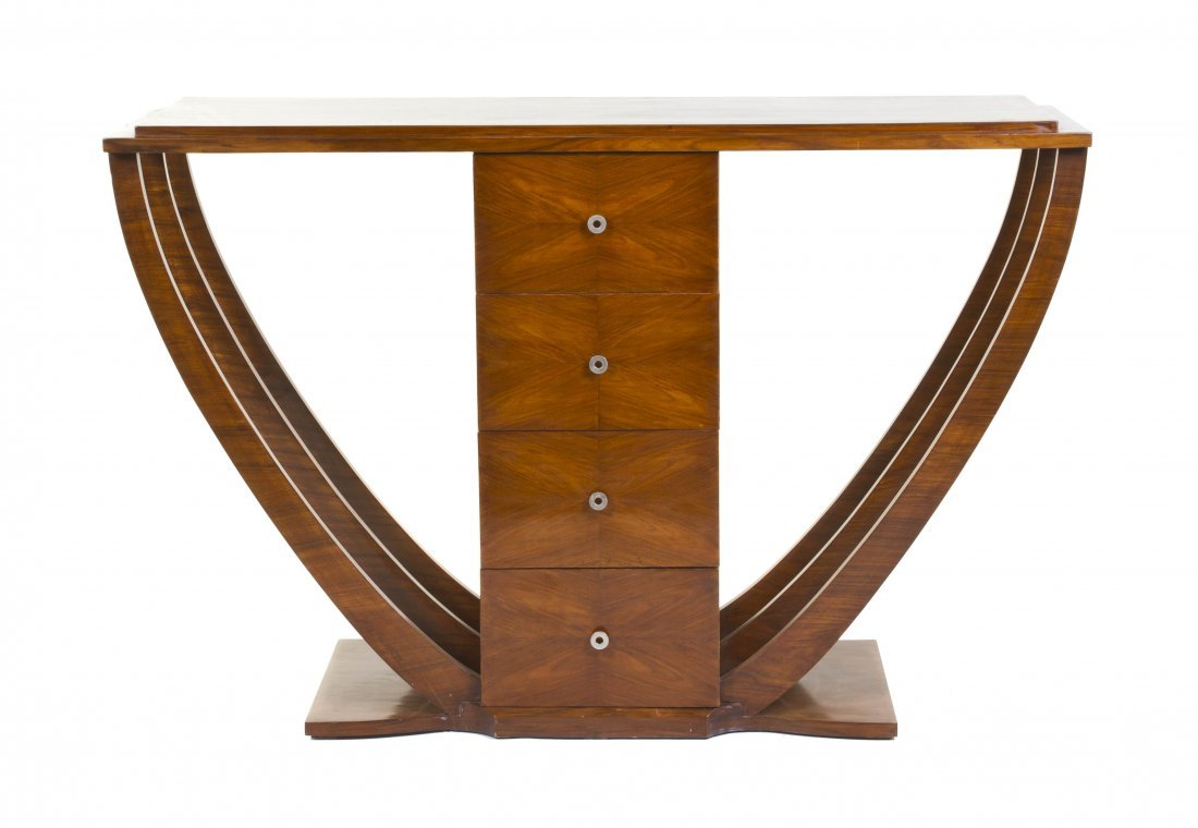 2019: An Art Deco Style Mahogany Console Table, Height