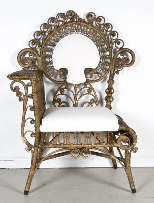 2039: A Victorian Rattan Corner Chair, Heywood Brothers