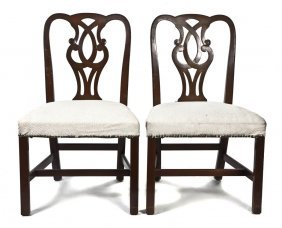 A Set Of Six Chippendale Style Mahogany Side Chai