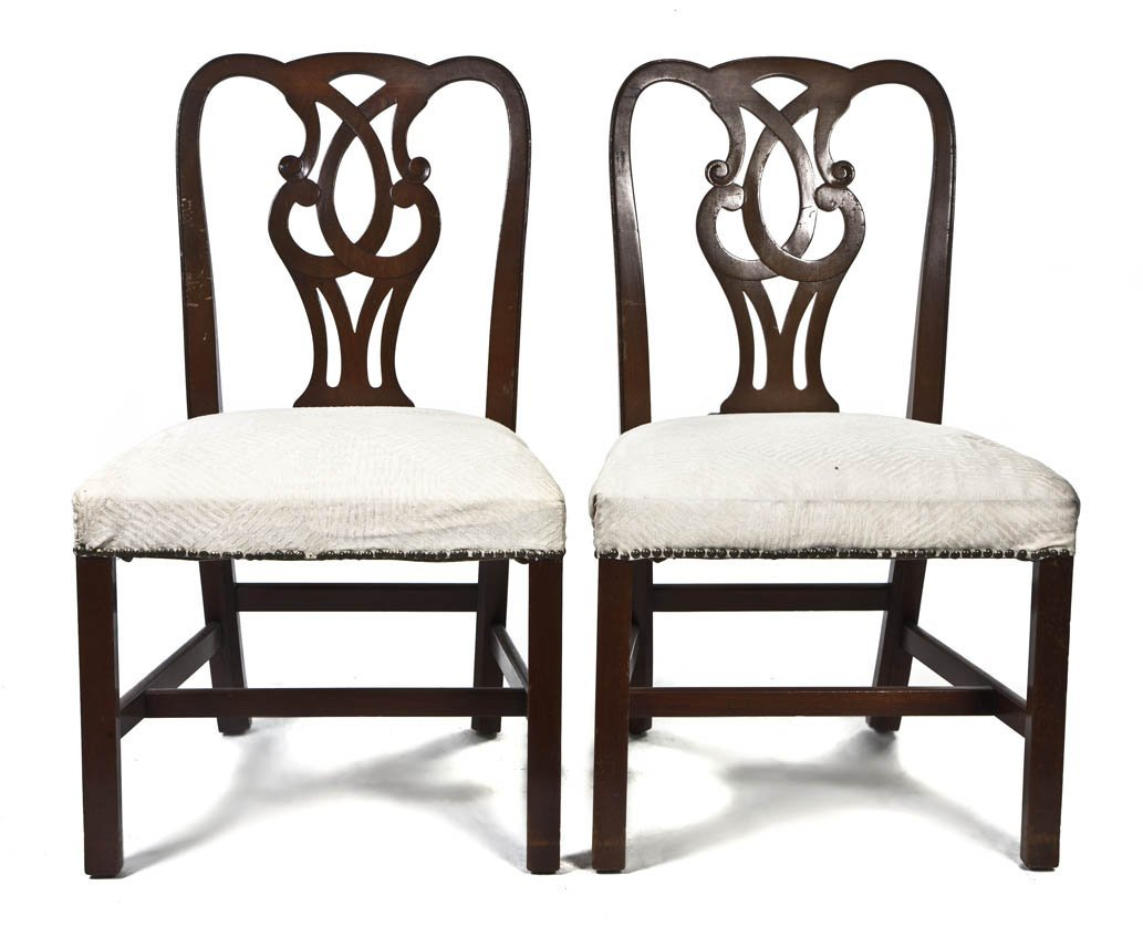 2106: A Set of Six Chippendale Style Mahogany Side Chai