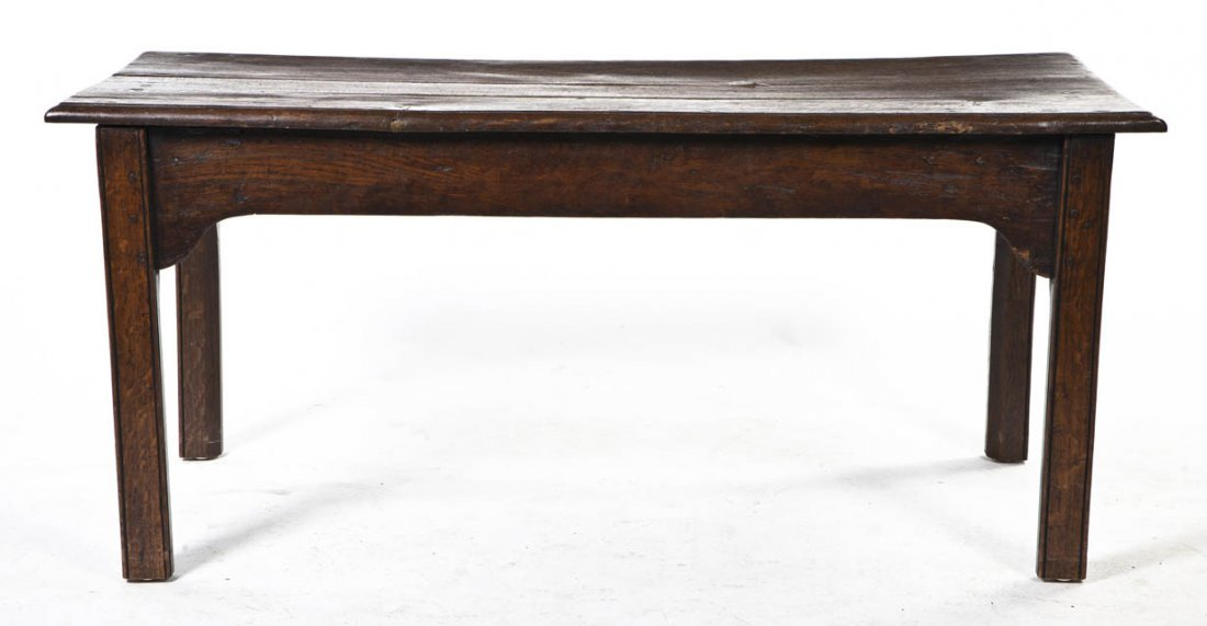 2109: An English Mahogany Low Table, Height 19 x width
