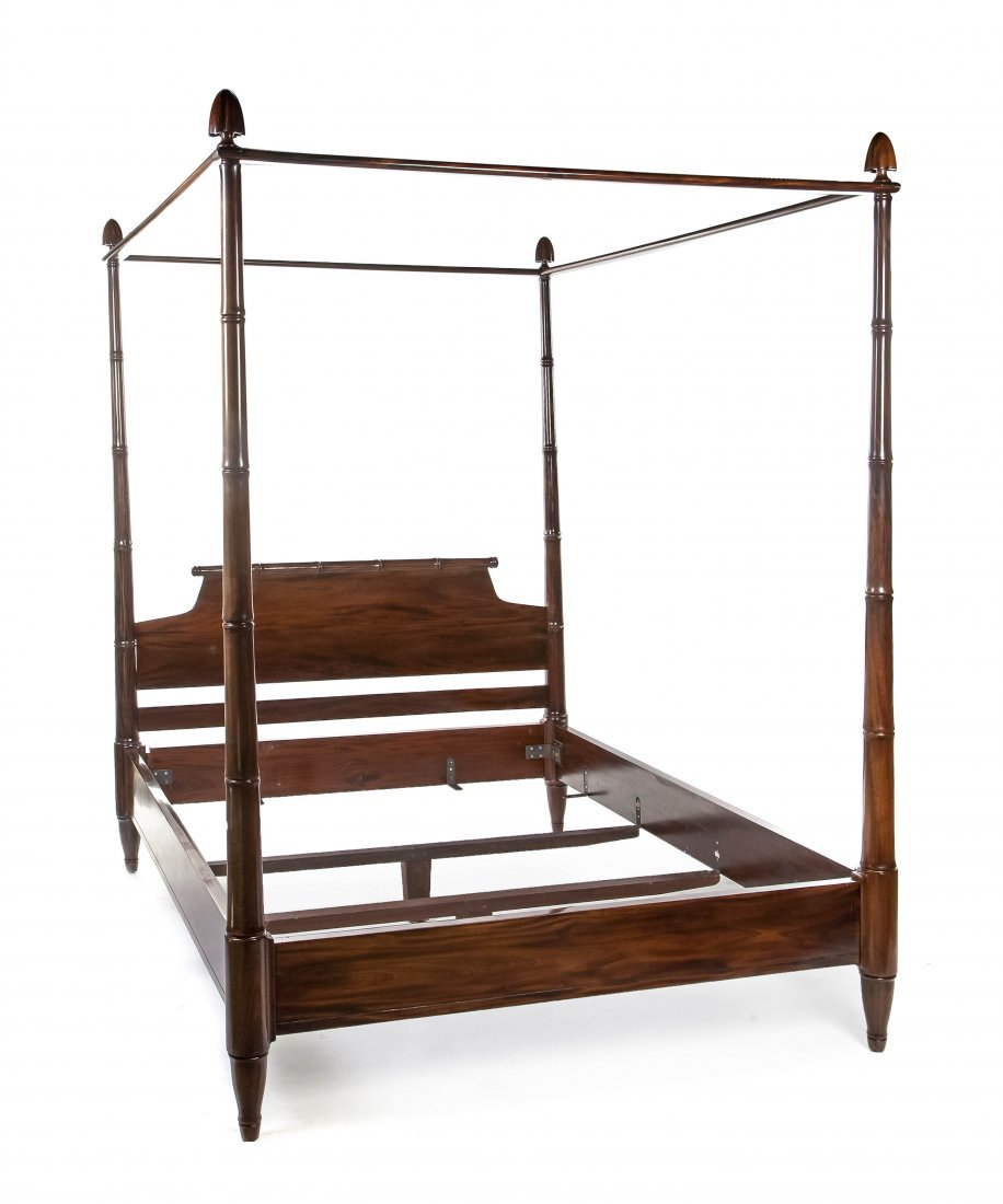 2119: A Regency Style Mahogany Four Post Bed, Height 88
