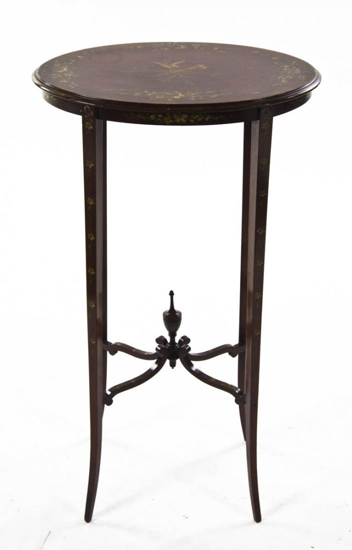 2122: An Edwardian Style Occasional Table, Height 27 1/