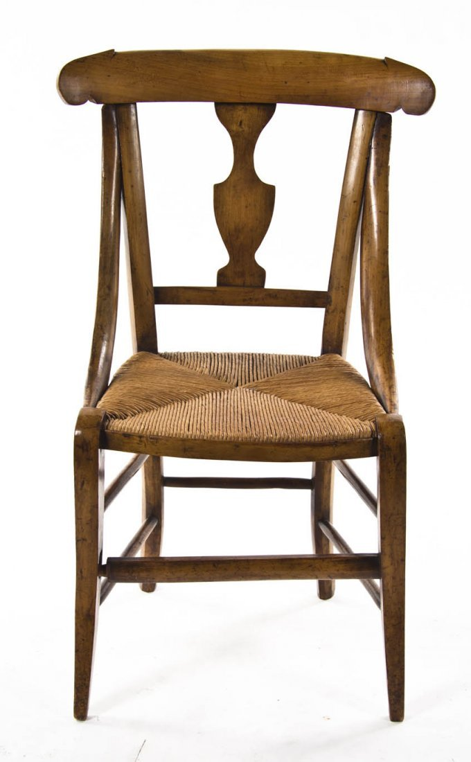 2125: A Continental Fruitwood Child's Chair, Height 28