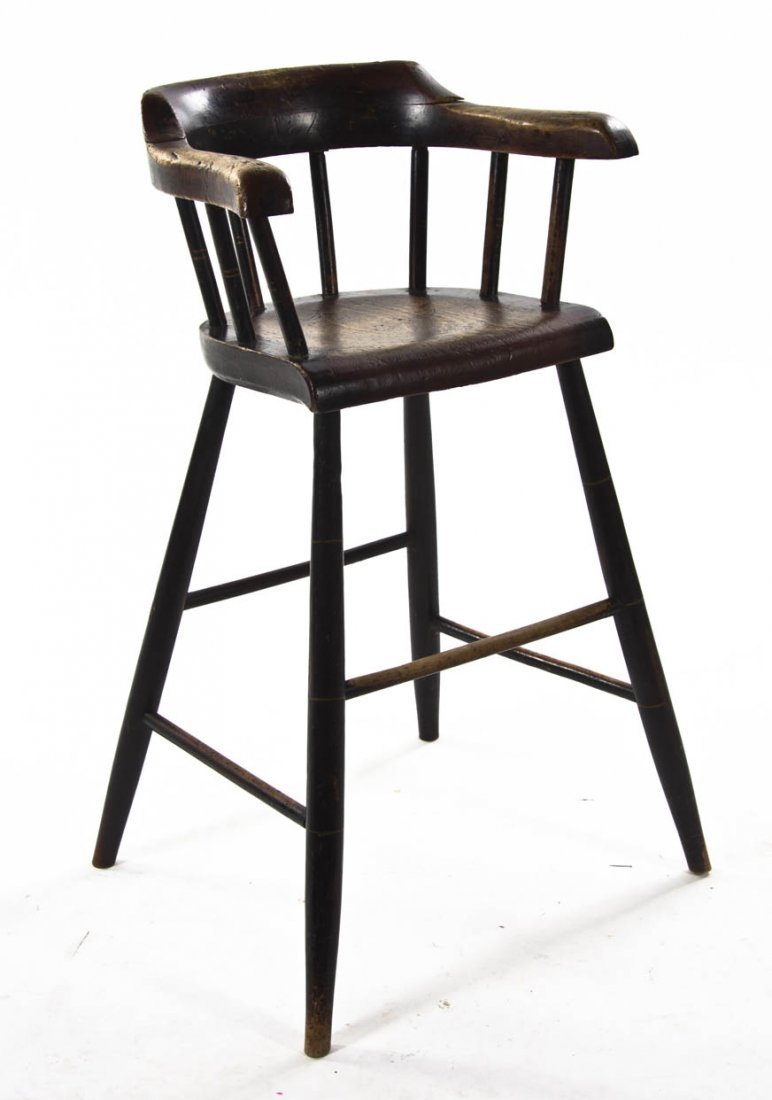 2126: A Provincial Style Walnut High Chair, Height 30 i