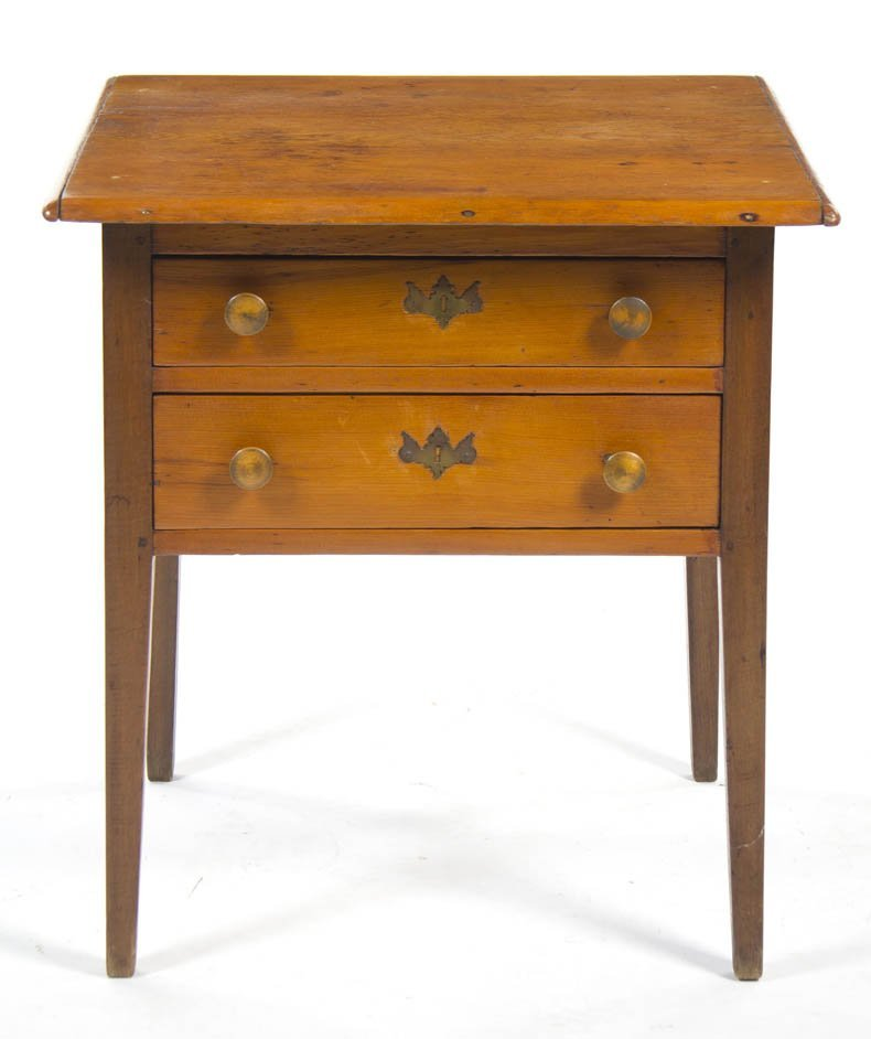 2130: An American Maple Work Table, Height 27 1/2 x wid