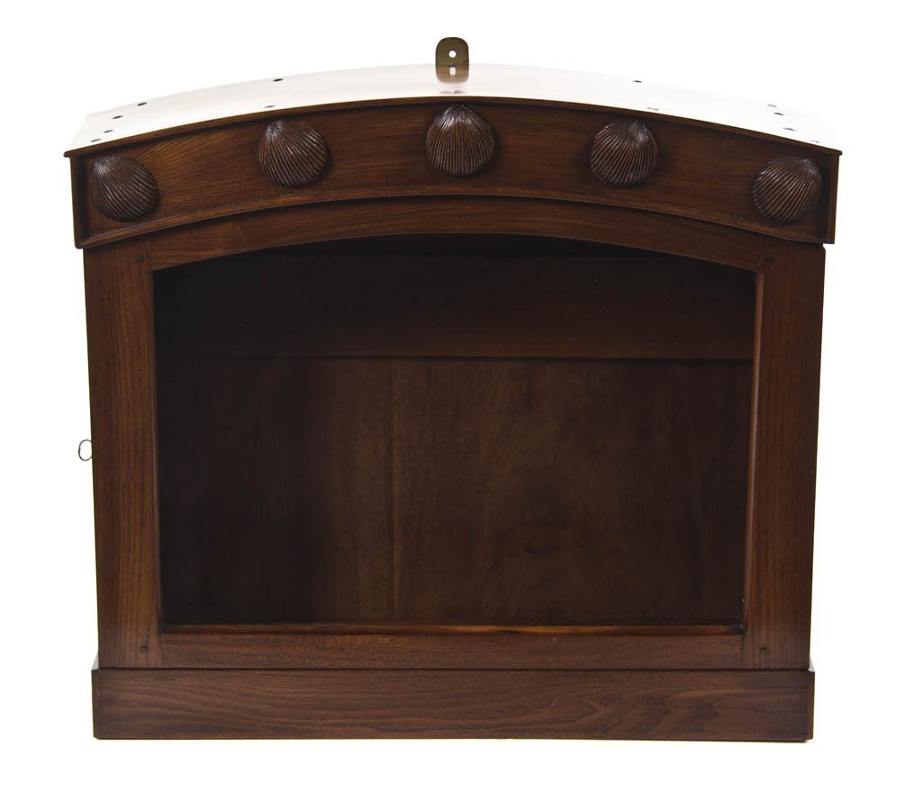 2131: A Carved Mahogany Hanging Vitrine Cabinet, Height