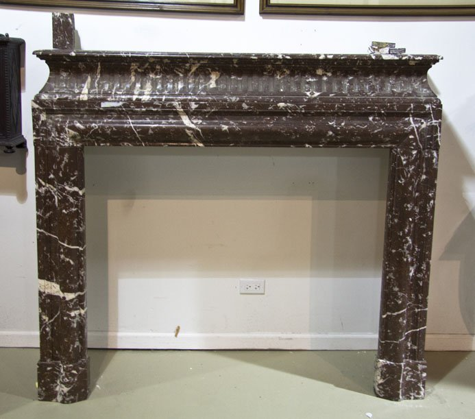 2142: A Marble Fireplace Mantel, Approximate width of w